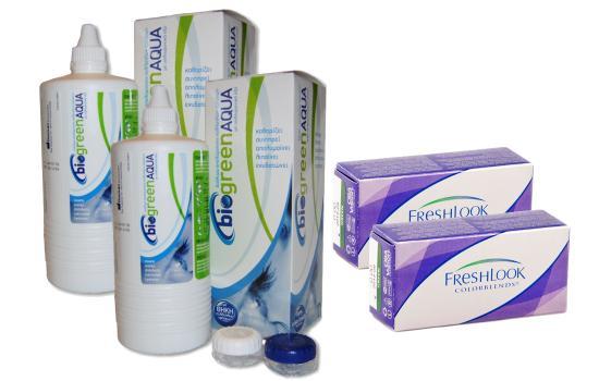2 Freshlook & 2 Biogreen Aqua 355ml