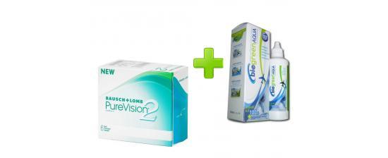 Purevision 2 6p + Biogreen Aqua 100ml