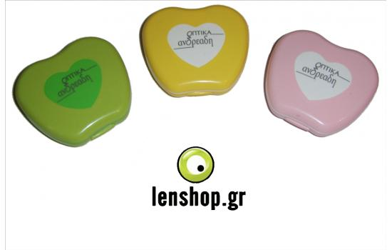 CONTACT LENS CASES (HEART)