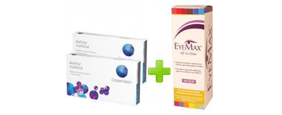 2 Biofinity Multifocal 3p + Eyemax 360ml