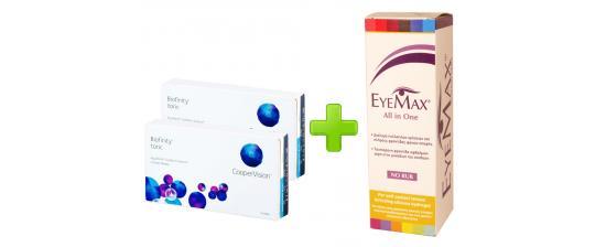 2 Biofinity Toric 3p + Eyemax 360ml
