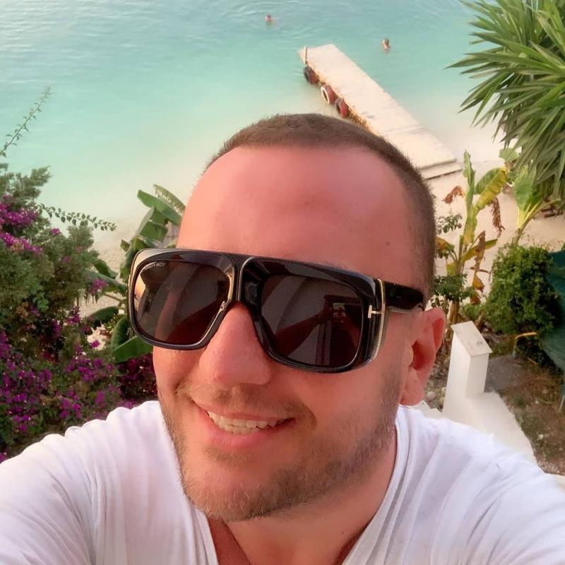 Tom Ford Ft0733 01a Gino Sunglasses Online Lenshop