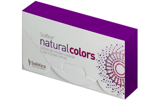 SOLOTICA SOLFLEX NATURAL COLORS Έγχρωμοι Μηνιαίοι  2p